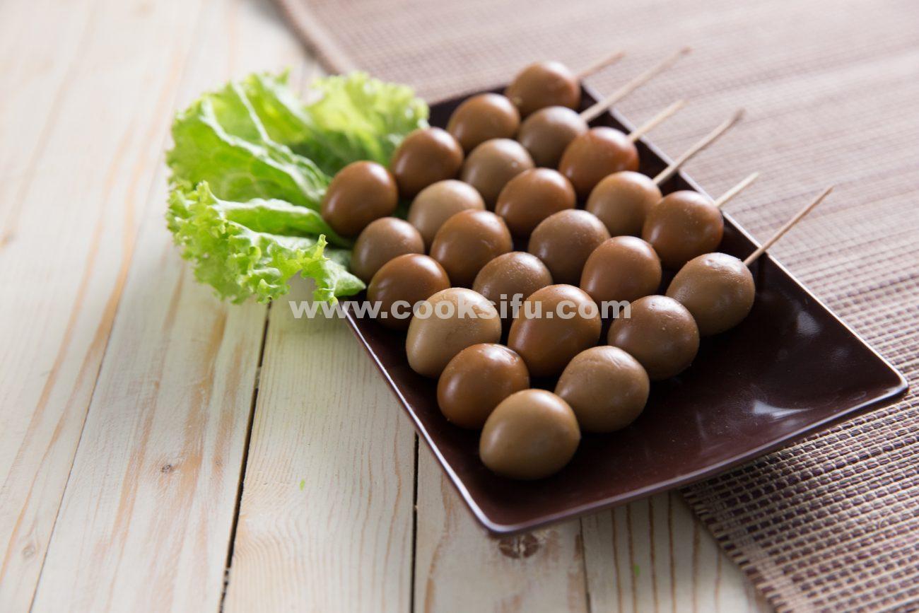Braised Quail Egg Skewers