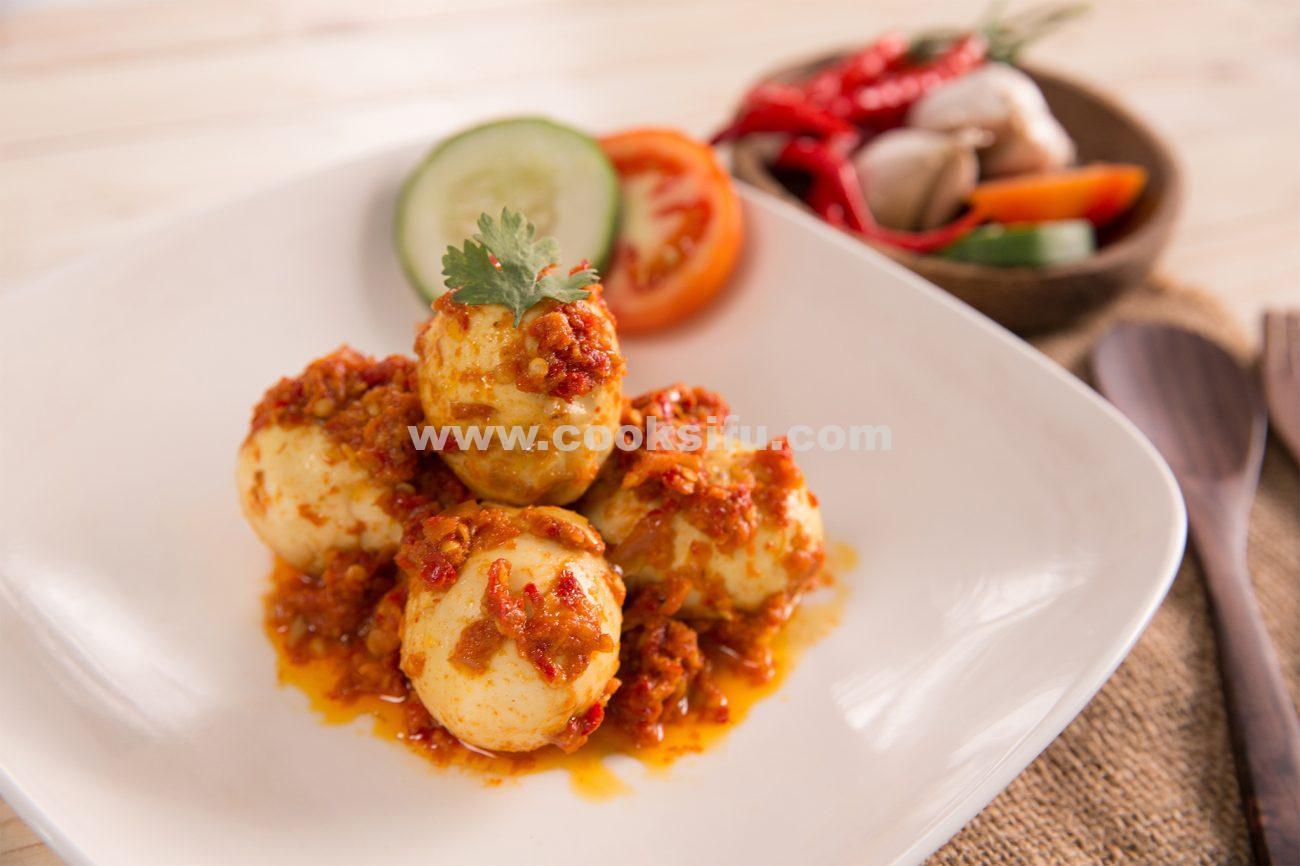 Spicy Fried Boiled Egg Balado