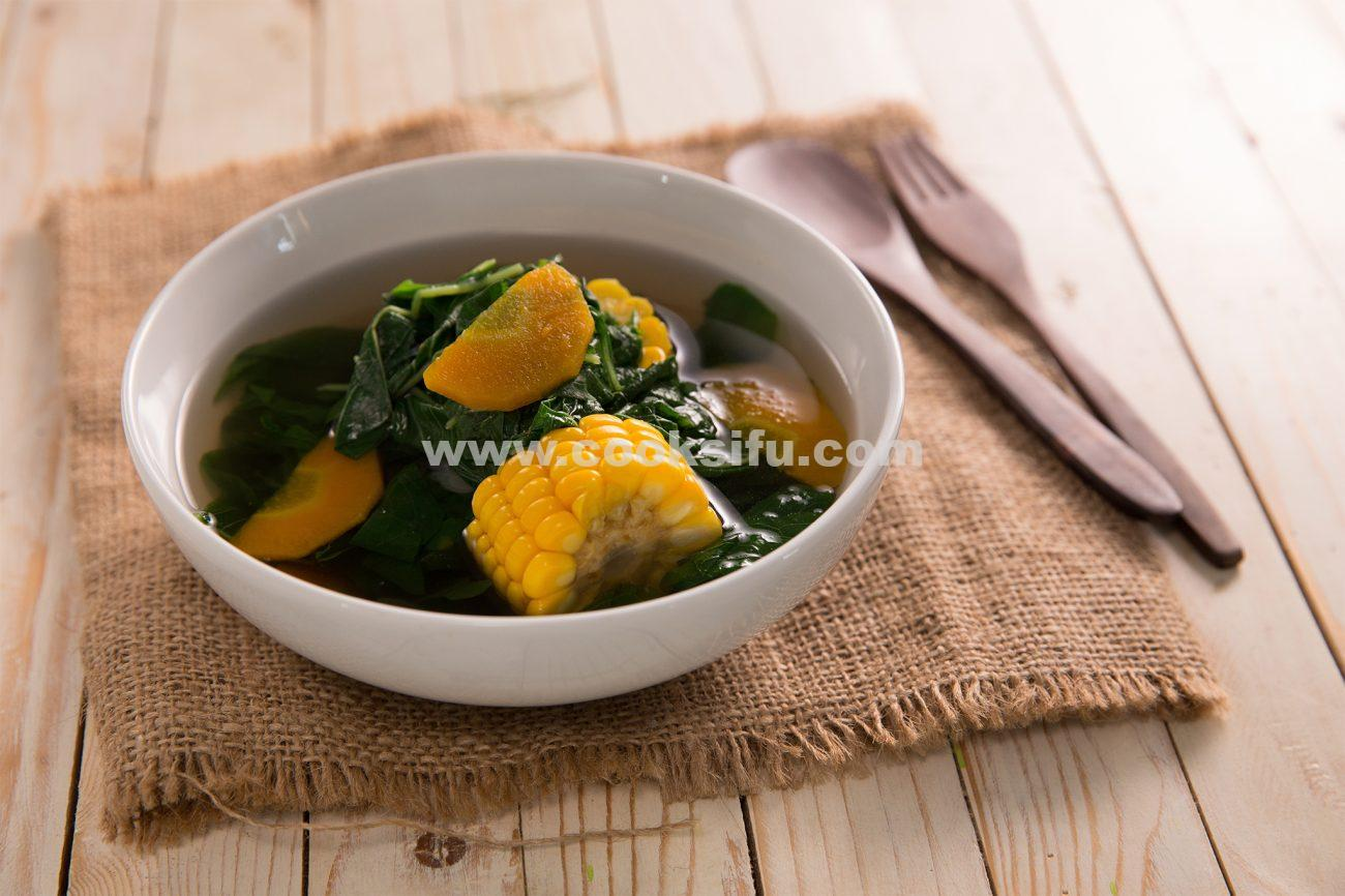 Indonesian Clear Spinach Soup