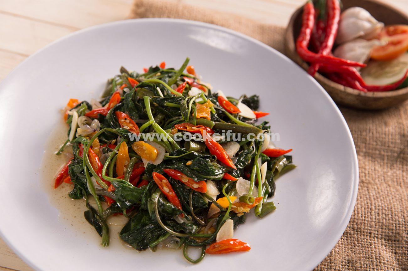 Spicy Water Spinach Stir Fry