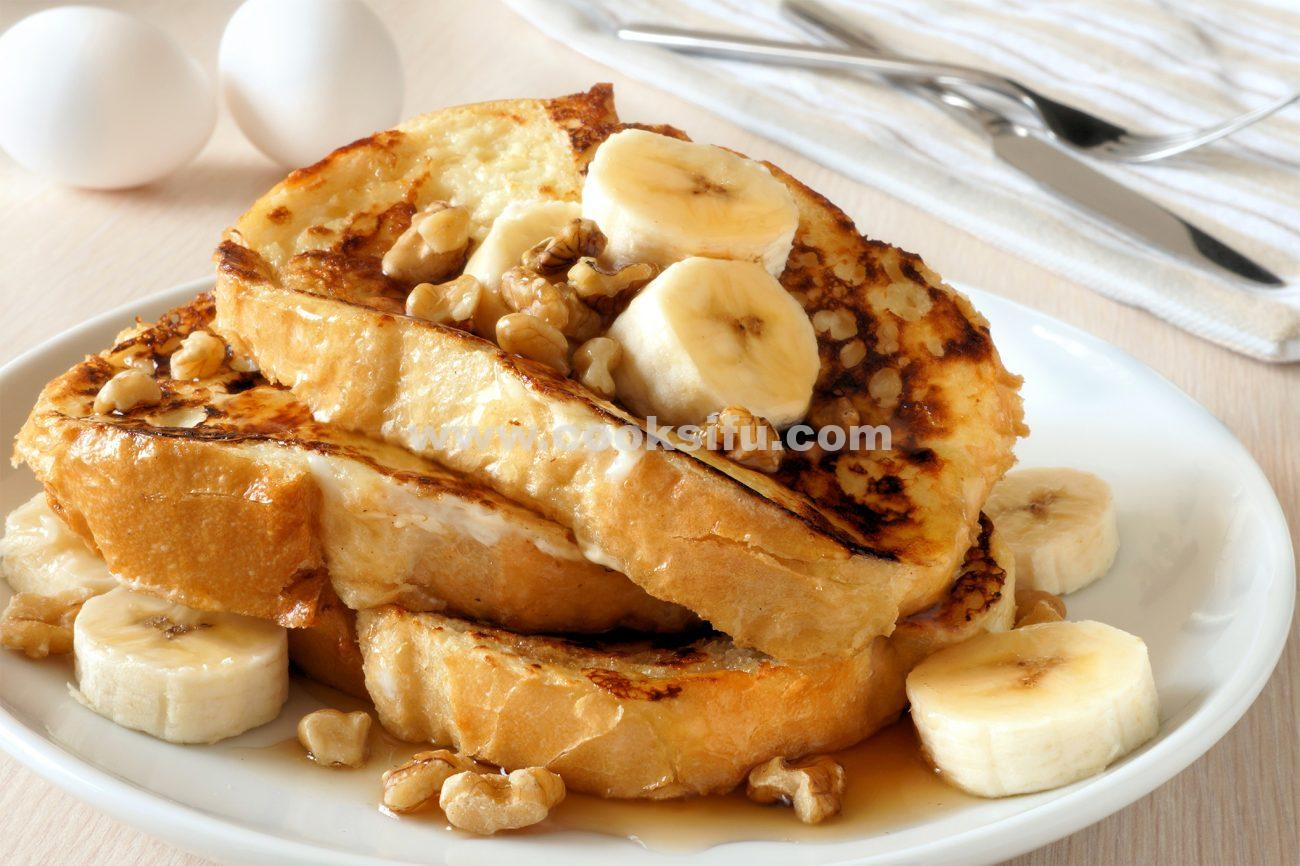 French Toast with Banana and Walnuts
