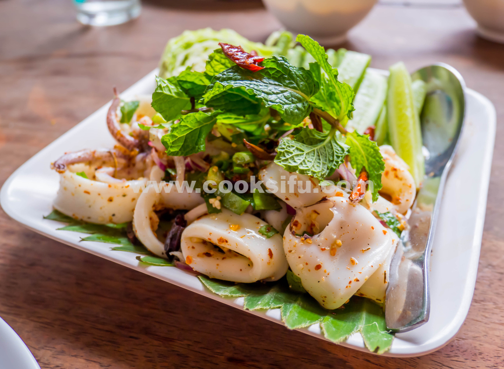 Hot and Spicy Squid Salad