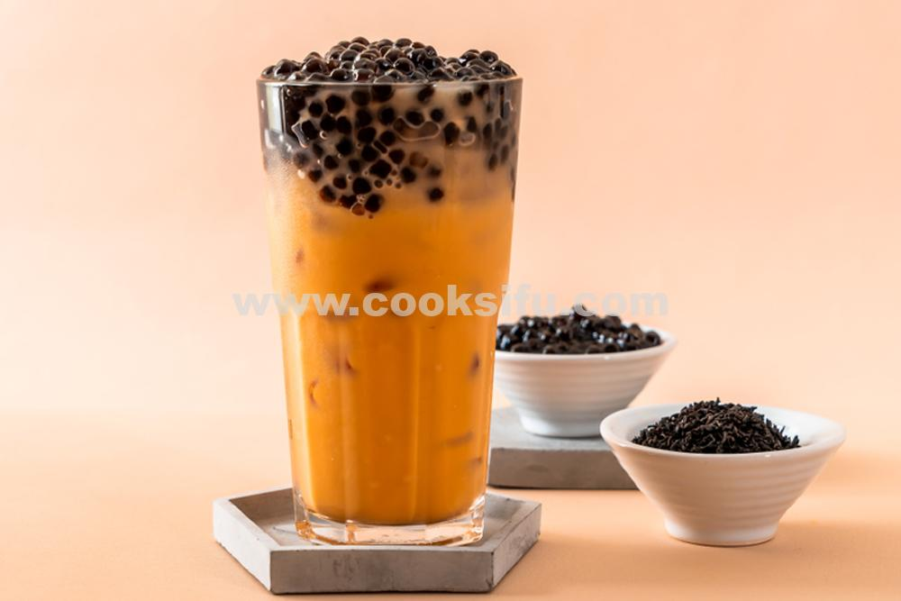 Homemade Thai Milk Bubble Tea (Boba Tea)