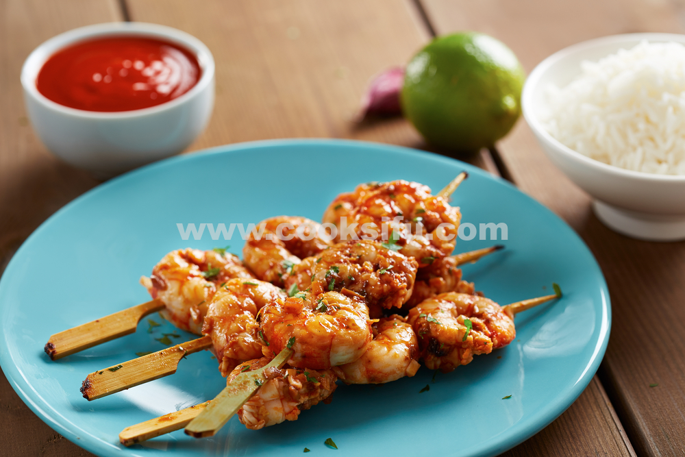 Grilled Sriracha Shrimp Skewers