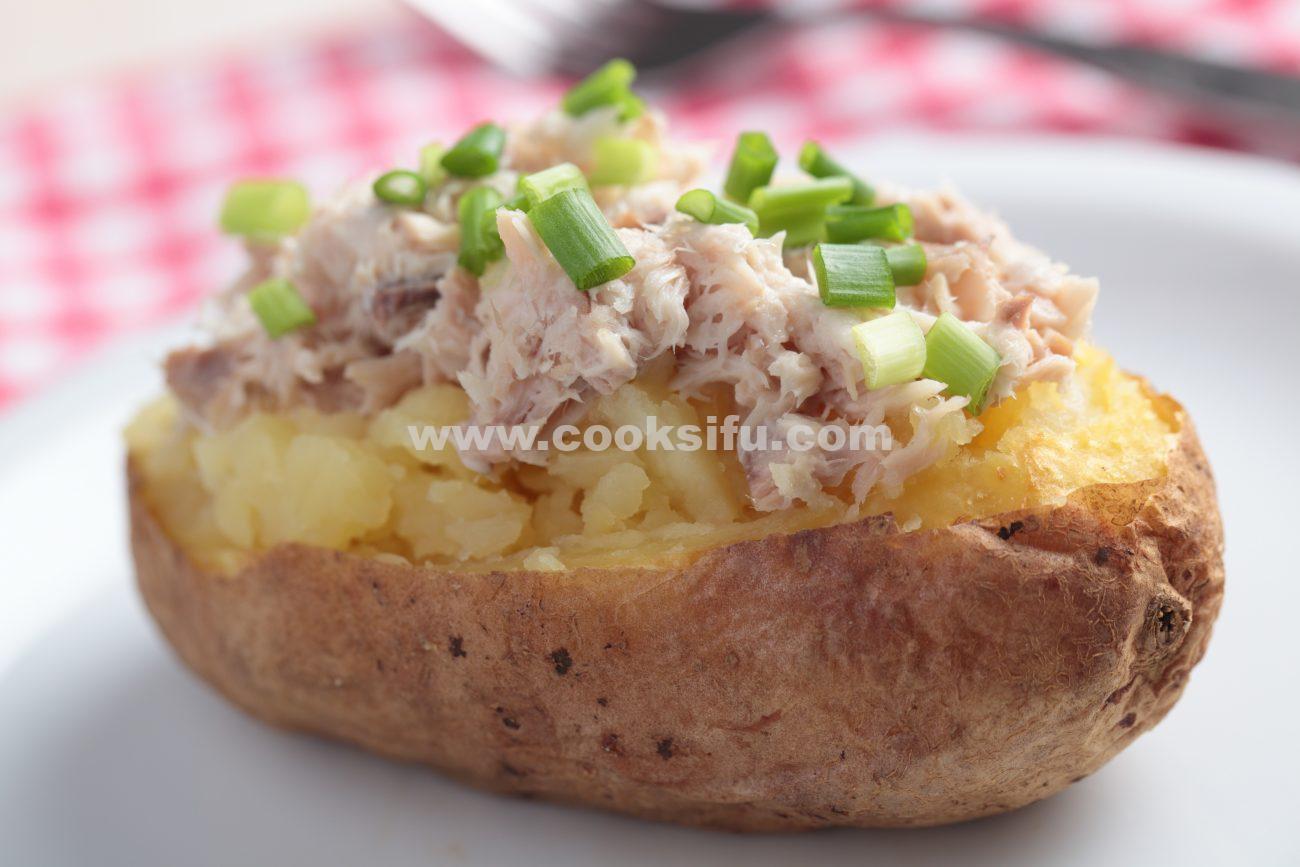 Baked Potato With Tuna Recipe – Tuna Stuffed Baked Potato