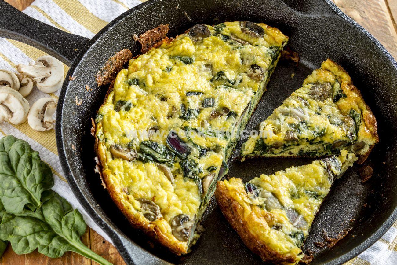 Mushroom Spinach Frittata – The Best Egg Frittata Recipe